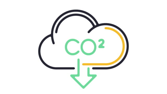 carbon footprint line icon animation - ecosystem stock videos & royalty-free footage