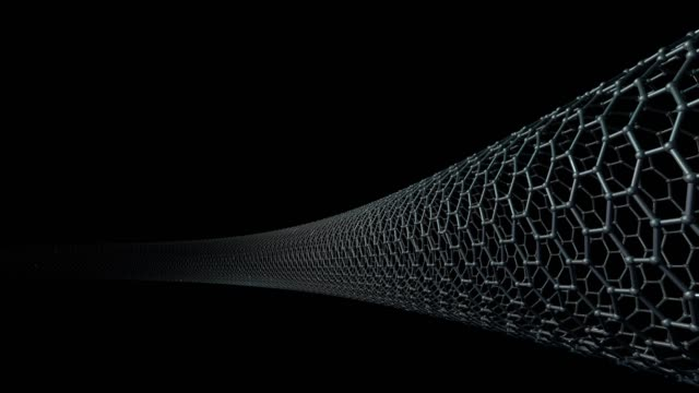carbon nanotube structure, hexagonal 3d - netting stock videos & royalty-free footage
