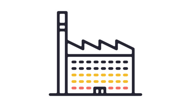 CO2-Politik Linie Symbol Animation mit Alpha