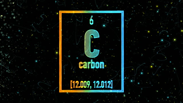 carbon symbol as in the periodic table - chemistry stock videos & royalty-free footage