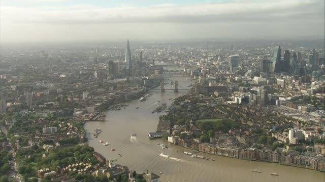london buildings amongst nominees file england london london skyline showing tower bridge the shard and city of london skyscrapers - city of london stock videos & royalty-free footage