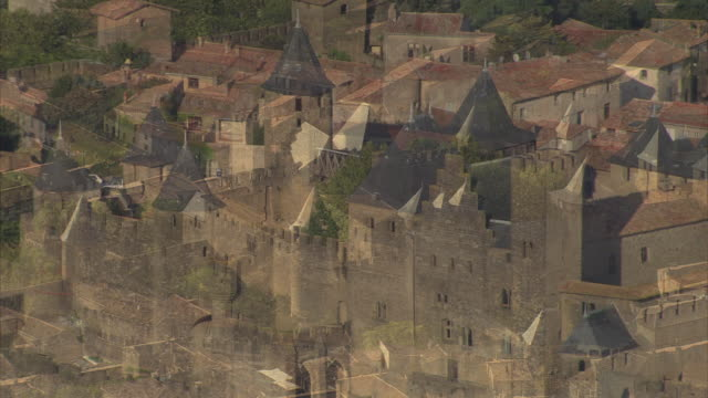 carcassonne castle - aude stock videos & royalty-free footage