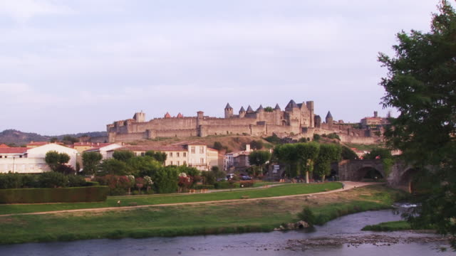 ws, carcassonne, languedoc-roussillon, france - carcassonne stock videos & royalty-free footage