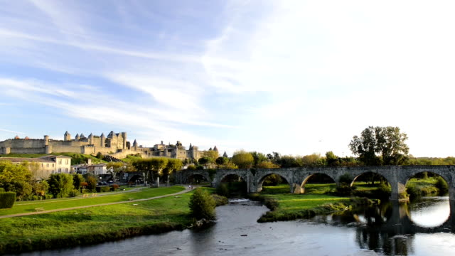 carcassonne - carcassonne stock videos and b-roll footage