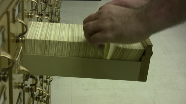 card catalog - filing cabinet stock videos & royalty-free footage
