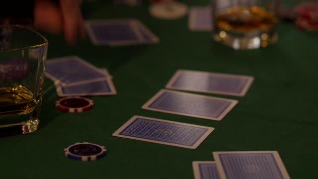 card game - gambling chip stock videos & royalty-free footage
