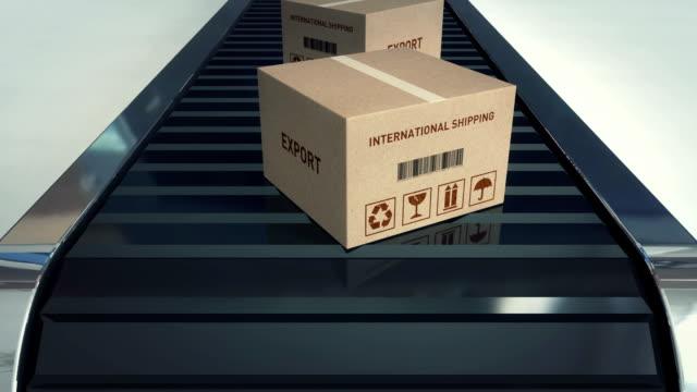 Karton Kartons auf Förderband/Export-Einzelwort