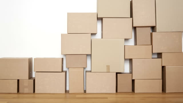 cardboard boxes - stack stock videos & royalty-free footage