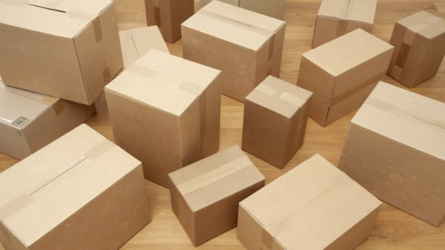 cardboard boxes - package stock videos and b-roll footage