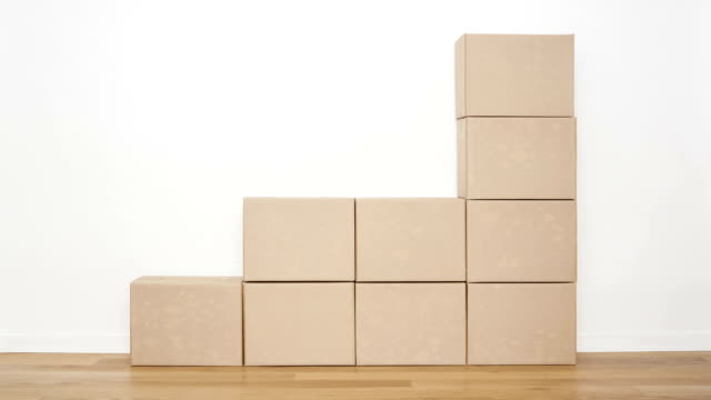 cardboard boxes - relocation stock videos & royalty-free footage