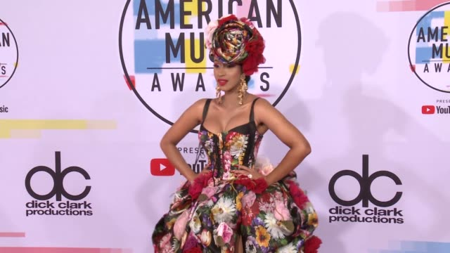 cardi b at the 2018 american music awards at microsoft theater on october 09 2018 in los angeles california - american music awards video stock e b–roll