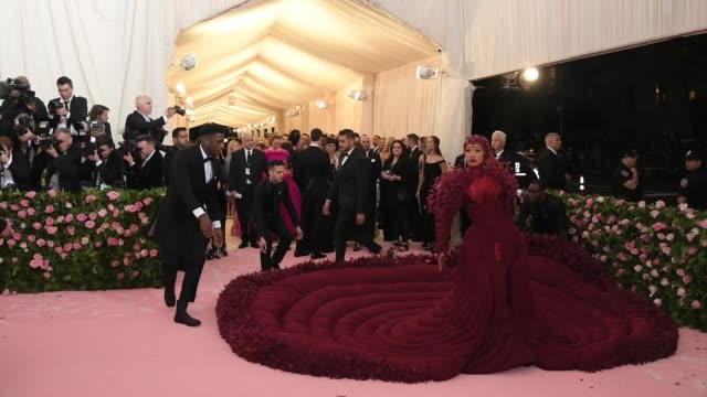 cardi b attends the 2019 met gala celebrating camp: notes on fashion at metropolitan museum of art on may 06, 2019 in new york city. - gala stock videos & royalty-free footage