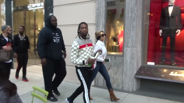 Cardi B fiance Offset stop for snacks in Beverly Hills in Celebrity Sightings in Los Angeles