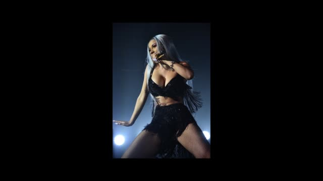 Cardi B performs on stage at Pandora Presents Beyond 2018 on November 13 2018 in New York City