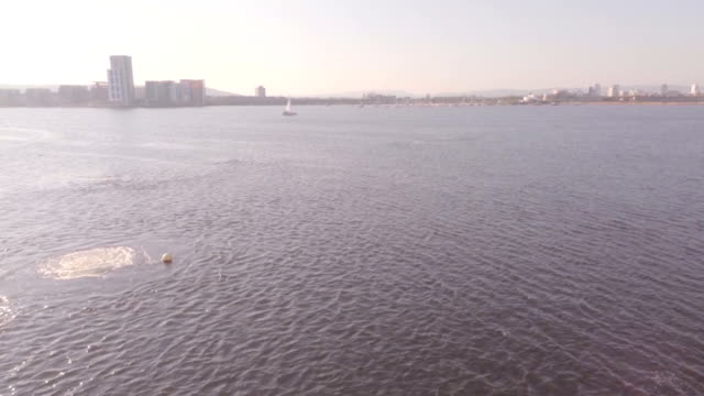 cardiff bay barrage - cardiff wales stock videos & royalty-free footage