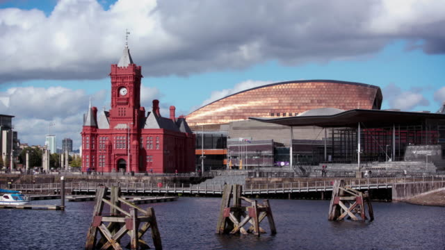 cardiff bay, wales - cardiff wales stock videos & royalty-free footage