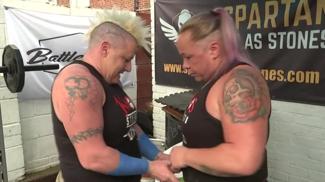 cardiff bodybuilding couple crowned the uk's strongest women wales cardiff int various of bodybuilding married couple sam taylor and sue... - itv evening news stock videos & royalty-free footage