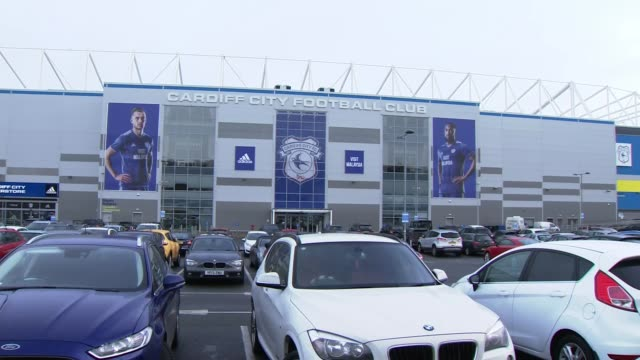 Cardiff City fans pay tribute to missing footballer Emiliano Sala WALES Cardiff Cardiff City Stadium General views Cardiff City Stadium People...