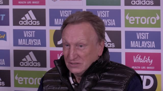 Cardiff City manager Neil Warnock at his prematch press conference ahead of Saturday's Premier League game against Watford