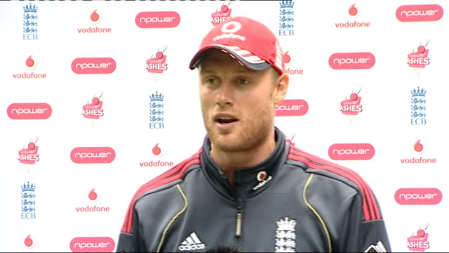 Cardiff INT Flintoff press conference SOT On his last Test Match it will be me trying to score some runs and them trying to get me out