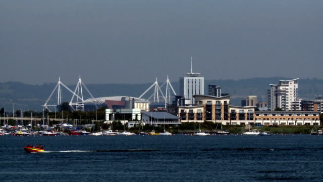 cardiff landscape - cardiff wales stock videos & royalty-free footage