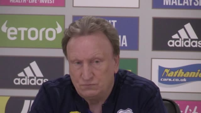 Cardiff manager Neil Warnock press conference ahead of Premier League home game against Bournemouth on Saturday