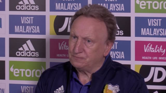 Cardiff manager Neil Warnock press conference ahead of Premier League game at Wolves on Saturday