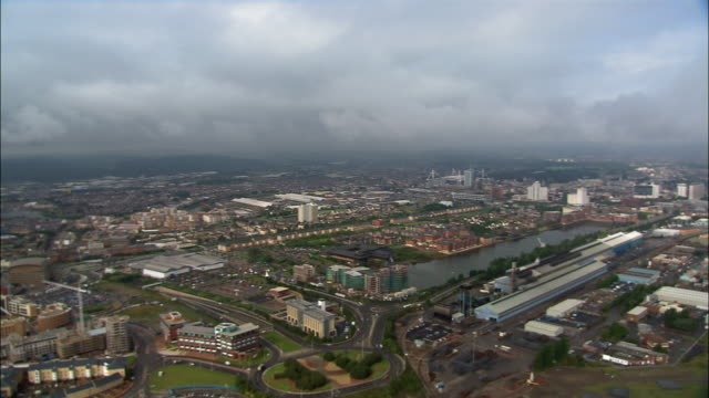 aerial, cardiff, wales - cardiff wales stock videos & royalty-free footage