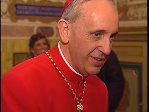 cardinal bergoglio greeting people - latin america stock videos & royalty-free footage