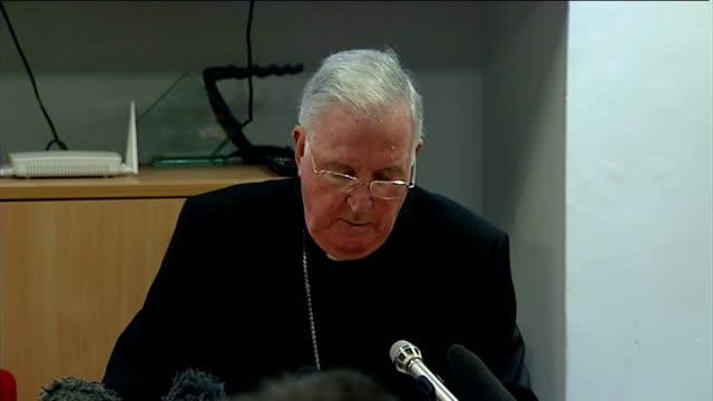 cardinal cormac murphy o'connor press conference; england: london: int cardinal cormac murphy o'connor press conference sot - cardinal keith o'brien,... - cormac murphy o'connor stock videos & royalty-free footage