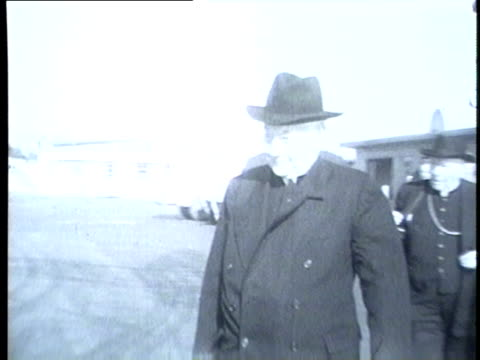 cardinal samuel stritch leaves chicago for rome in 1954 - 1954 stock videos and b-roll footage