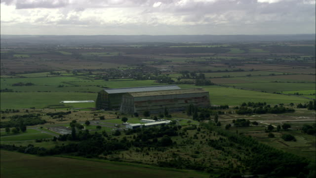 Cardington Hangars  - Aerial View - England, Bedford, Cardington, United Kingdom