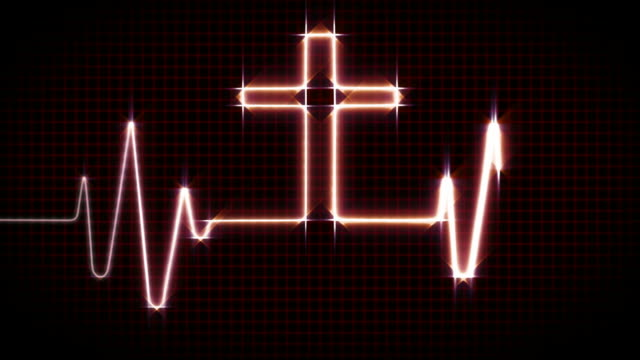 cardiogram with cross - red - listening to heartbeat stock videos & royalty-free footage