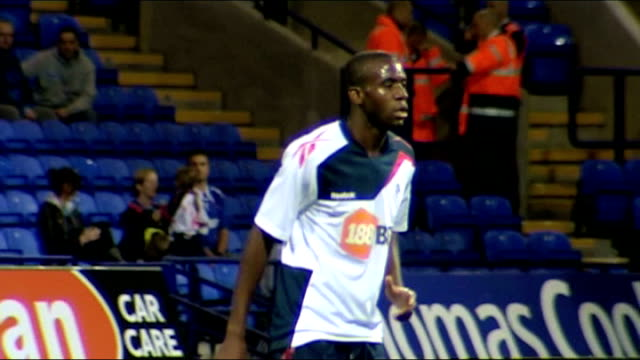 cardiologist who helped to save life of fabrice muamba interviewed date fabrice muamba playing for bolton on pitch - fabrice muamba stock videos and b-roll footage