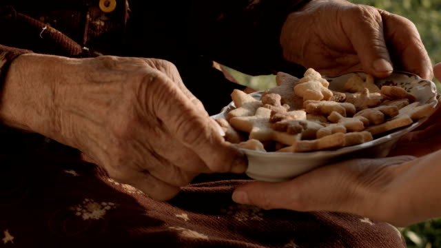 care for seniors citizens - christmas gift stock videos & royalty-free footage