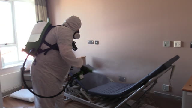 care homes being sanitised to prevent the spread of coronavirus - nursing home stock videos & royalty-free footage