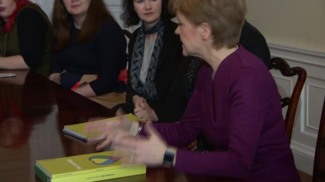 care review report in scotland calls for radical overhaul scotland lee davidson along and speaking to reporter nicola sturgeon msp speaking at care... - keep out sign stock videos & royalty-free footage