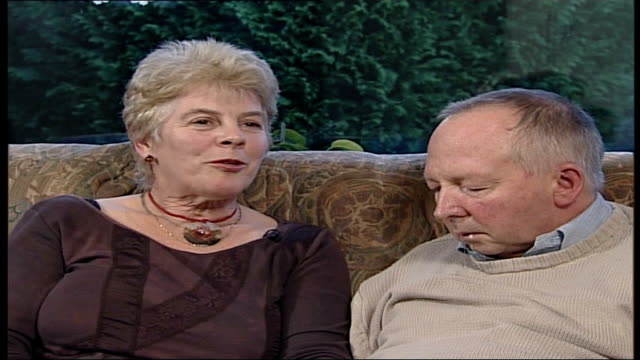 carer who set up alzheimer's helpline to receive mbe kent maidstone int denise sitting on a sofa next her husband stan denise lintern interview sot i... - kissing hand stock videos & royalty-free footage