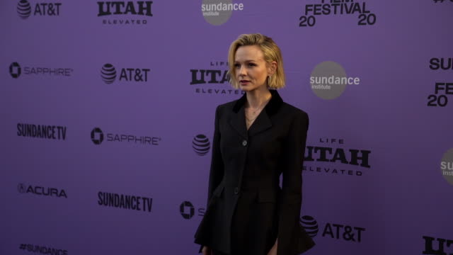 """carey mulligan at the """"promising young woman"""" premiere on january 25, 2020 in park city, utah. - arts culture and entertainment stock videos & royalty-free footage"""