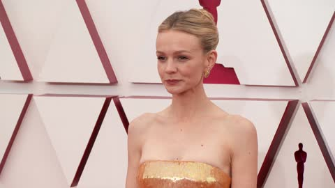 carey mulligan at the93rd annual academy awards - arrivalsonapril25, 2021. - academy of motion picture arts and sciences stock videos & royalty-free footage