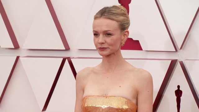 carey mulligan at the 93rd annual academy awards - arrivals on april 25, 2021. - academy awards stock-videos und b-roll-filmmaterial