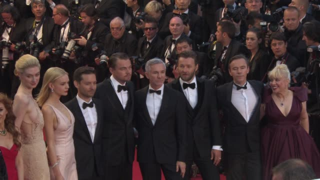 carey mulligan leonardo dicaprio baz luhrmann joel edgerton and tobey maguire at opening ceremony 'the great gatsby' premiere carey mulligan leonardo... - tobey maguire stock videos and b-roll footage