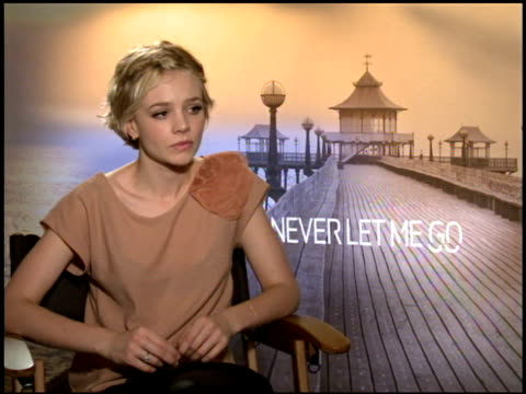 carey mulligan on the science fiction aspect of the film. at the 2010 toronto international film festival - 'never let me go' junket at toronto on. - science fiction film stock videos & royalty-free footage