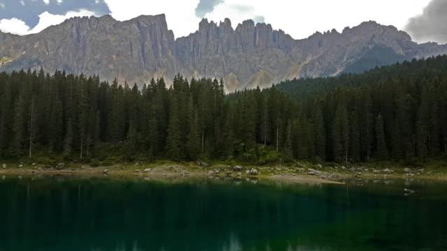 Carezza Lake in Dolomites