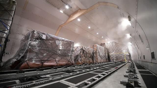 貨物航空機 - 航空宇宙産業点の映像素材/bロール