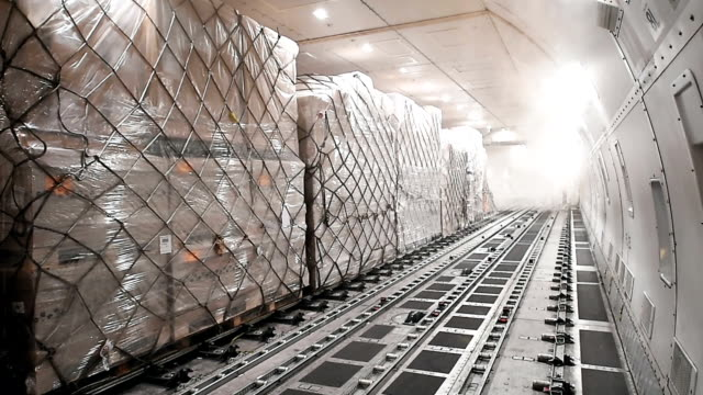 cargo airplane - cargo aeroplane stock videos & royalty-free footage