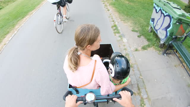 cargo bike ride - take that stock videos & royalty-free footage