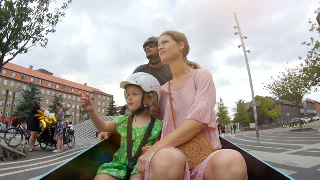 cargo bike ride - cycling helmet stock videos & royalty-free footage