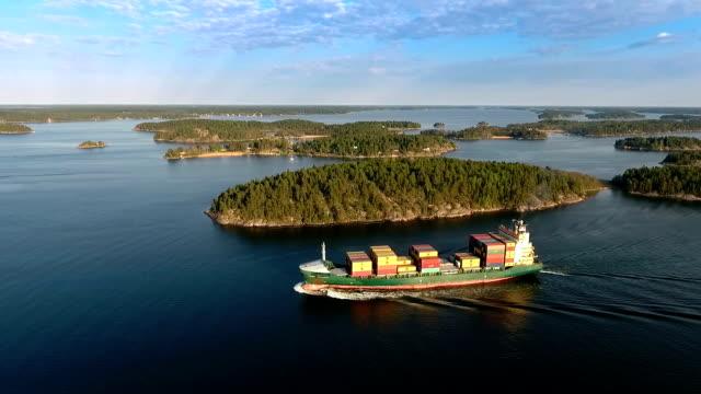container luftaufnahme - sweden stock-videos und b-roll-filmmaterial