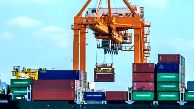 Container Nahaufnahme TIMELAPSE